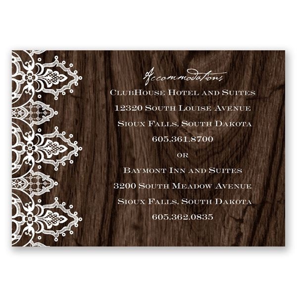 Romantic Finish Accommodations Card