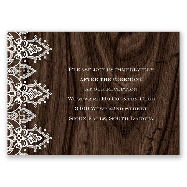 Romantic Finish Reception Card