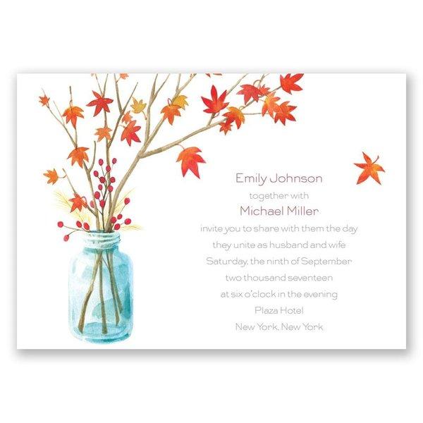 Autumn Arrangement Invitation