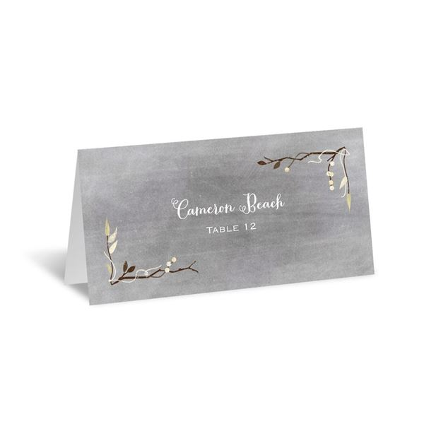 Chalkboard Autumn Escort Card
