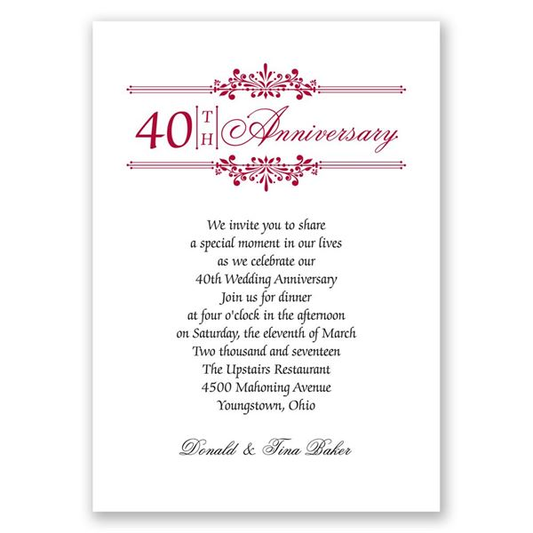 Simply Beautiful Anniversary Invitation
