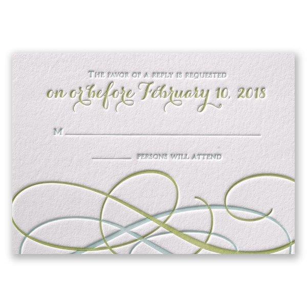 Sweet Swirls Letterpress Response Card