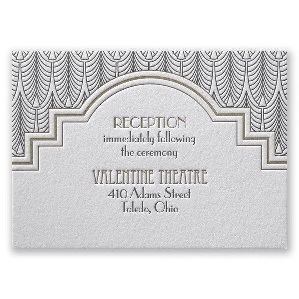 Art Deco Frame Reception Card