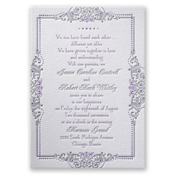 True Beauty Letterpress Invitation