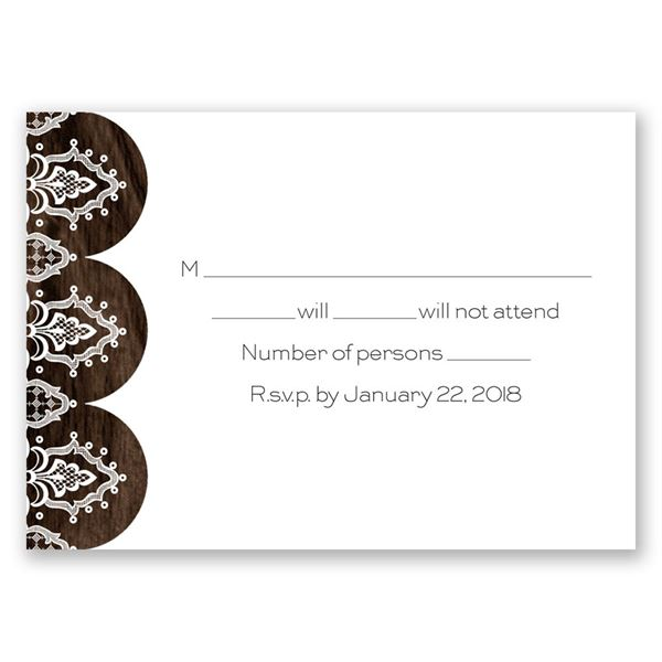 Love and Lace Response Card