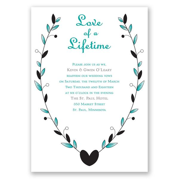 Love of a Lifetime Vow Renewal Invitation