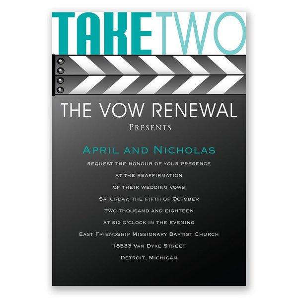 Take Two Vow Renewal Invitation