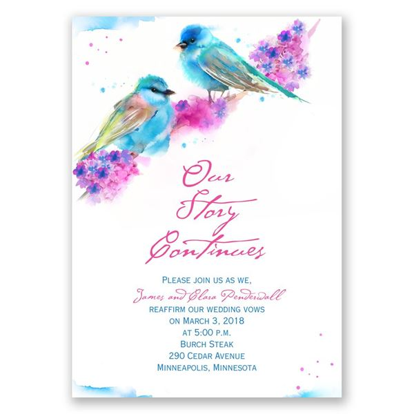 Watercolor Pair Vow Renewal Invitation