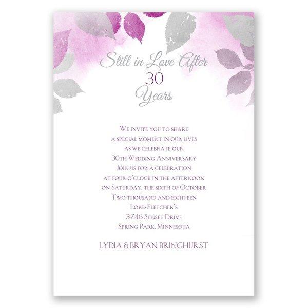Years Go By - Grapevine - Anniversary Invitation
