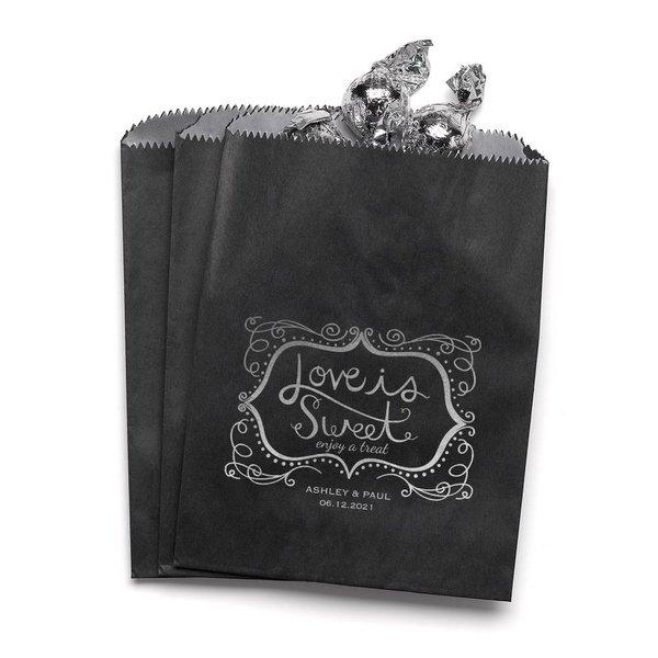 Love is Sweet - Black - Favor Bags