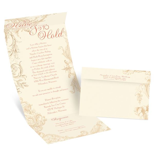 Yours to Hold - Ecru - Seal and Send Invitation