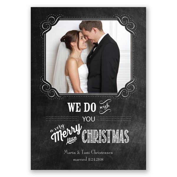 Christmas Vows Photo Holiday Card