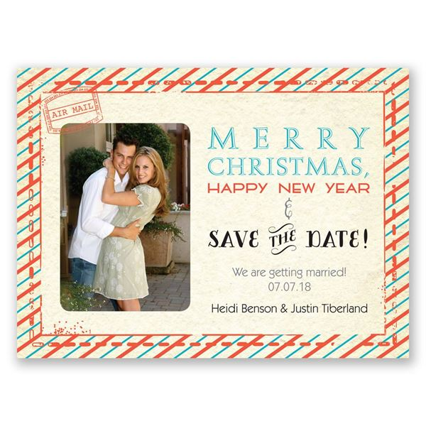 Sassy Stripes Holiday Card Save the Date