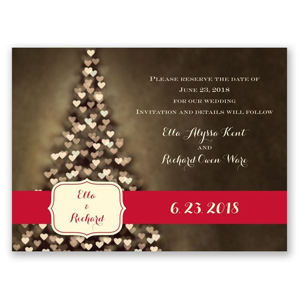 All Aglow Holiday Card Save the Date