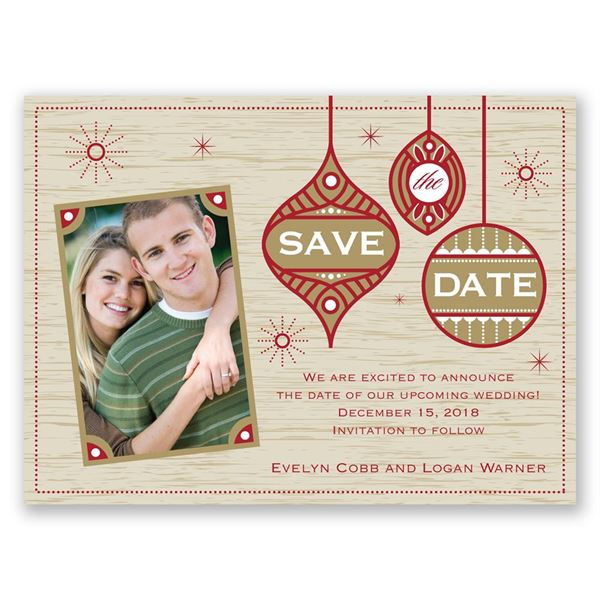 Retro Holiday Holiday Card Save the Date