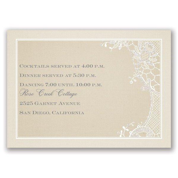 Subtle Elegance Real Glitter Reception Card