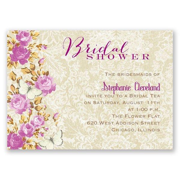 English Garden Mini Bridal Shower Invitation