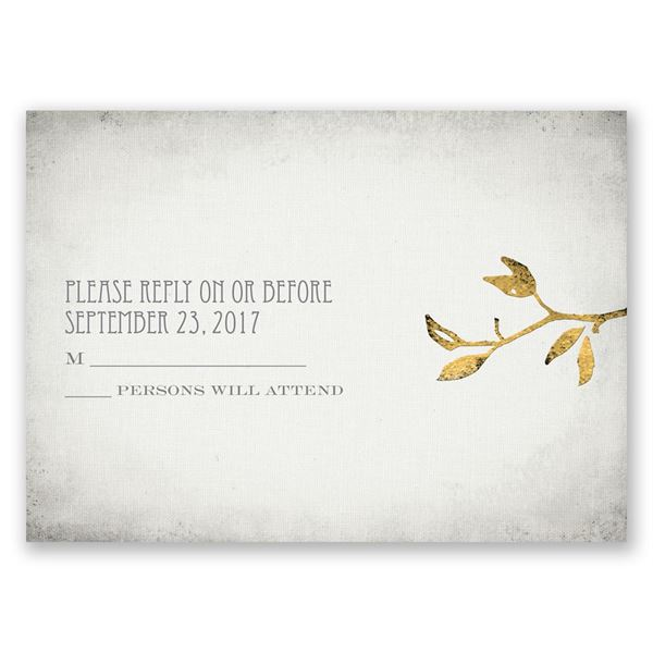 Leaves of Gold Response Card