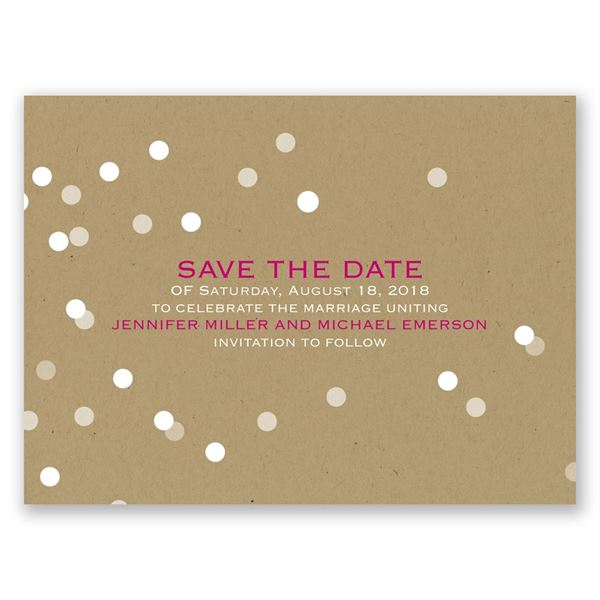 Bright Lights Save the Date Card