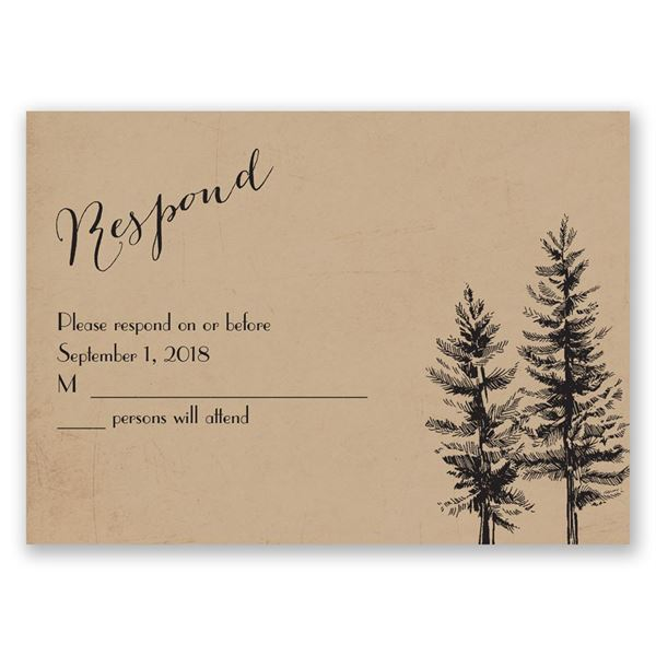 Spruced Up Response Card