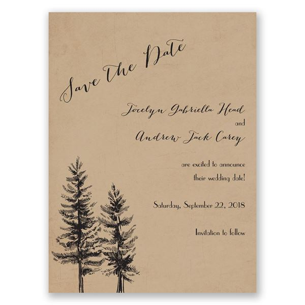 Spruced Up Save the Date Card