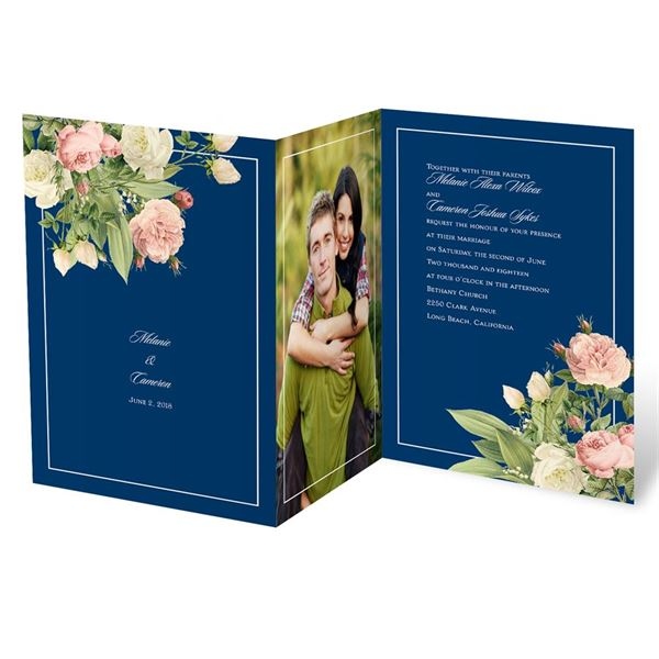 Brilliant Blooms Invitation