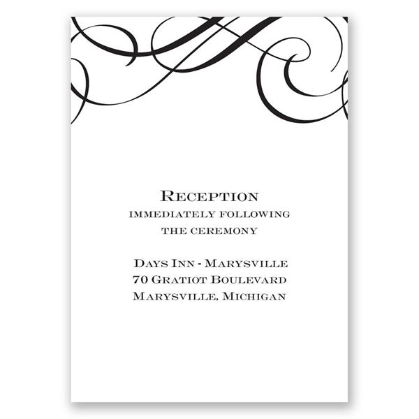Special Event Reception Card