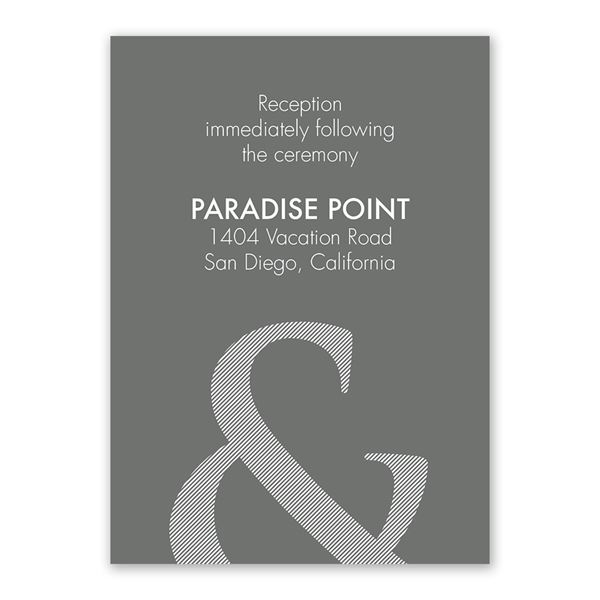Contemporary Couple Reception Card