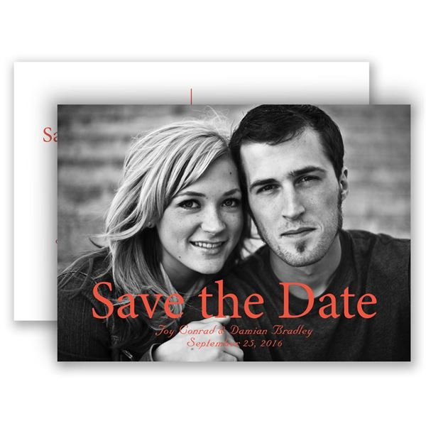 One Love Save the Date Postcard
