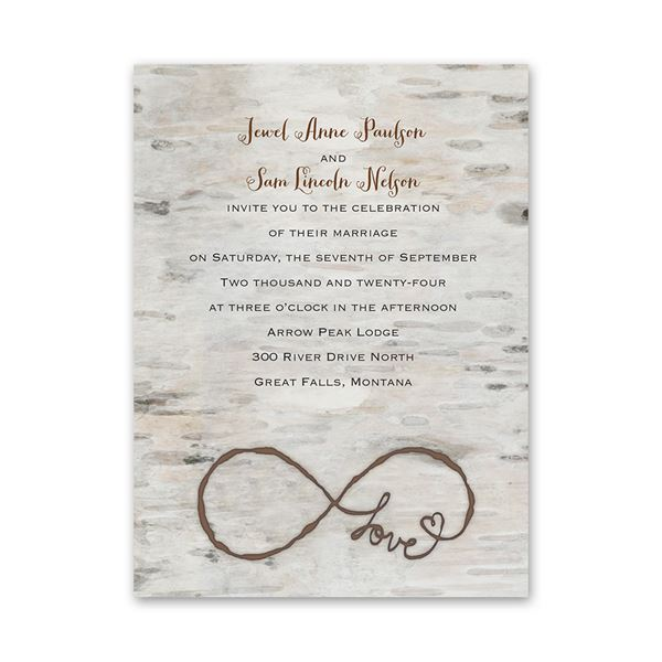 Love for Infinity Petite Invitation