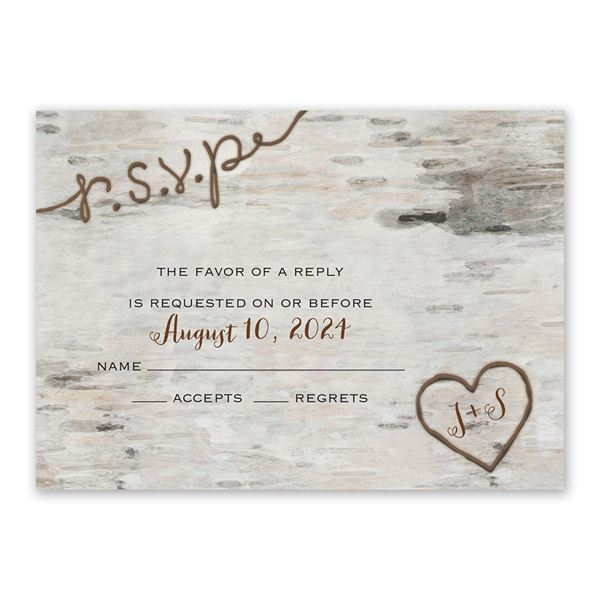 Love for Infinity Response Card