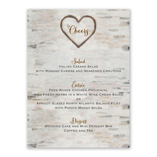 Love for Infinity Menu Card