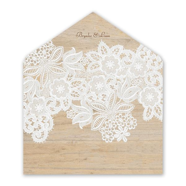 Wood and Lace Envelope Liner