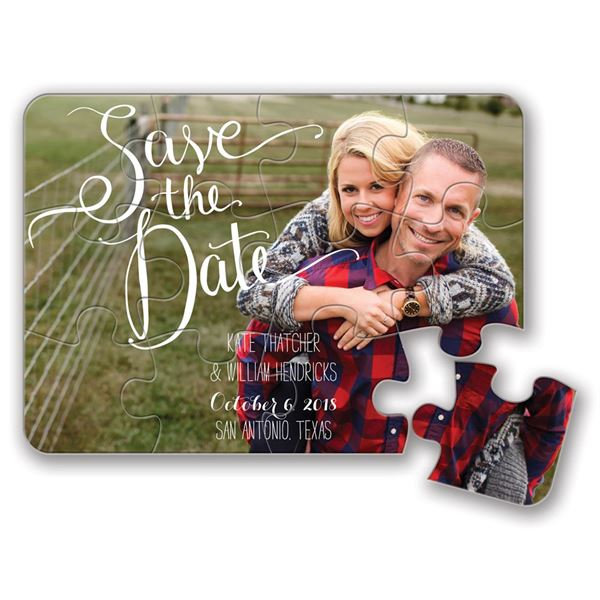 Pieced Together Save the Date Puzzle