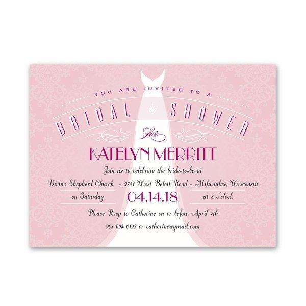 Ultra Classy Petite Bridal Shower Invitation