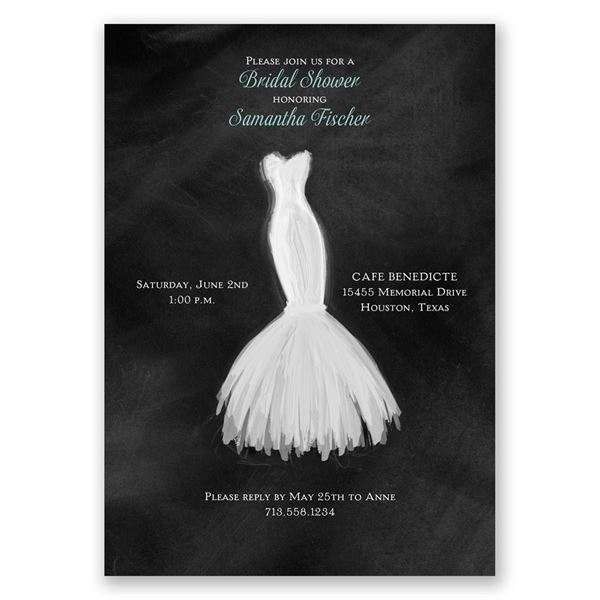 Wedding Fashion Bridal Shower Invitation