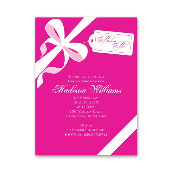 Presenting Petite Bridal Shower Invitation
