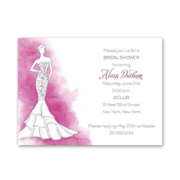 Fashion Struck Petite Bridal Shower Invitation