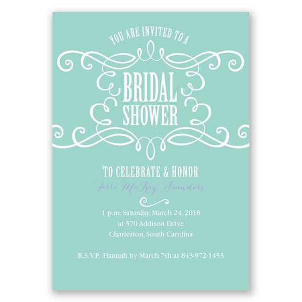 Fab Flourish Bridal Shower Invitation