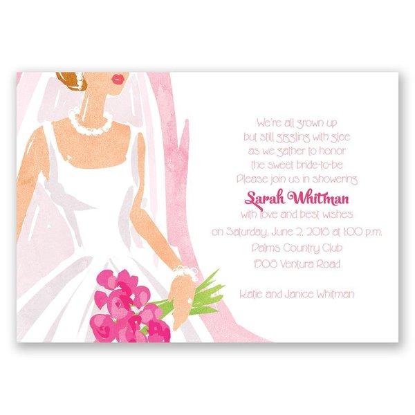 Beautiful Bride Bridal Shower Invitation