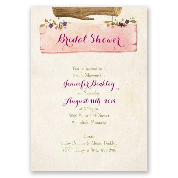Vintage Love Bridal Shower Invitation
