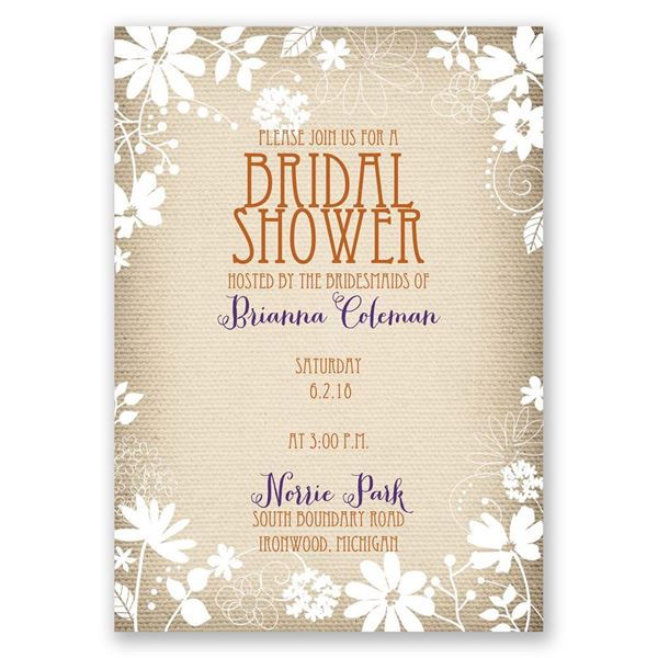 Country Whimsy Bridal Shower Invitation