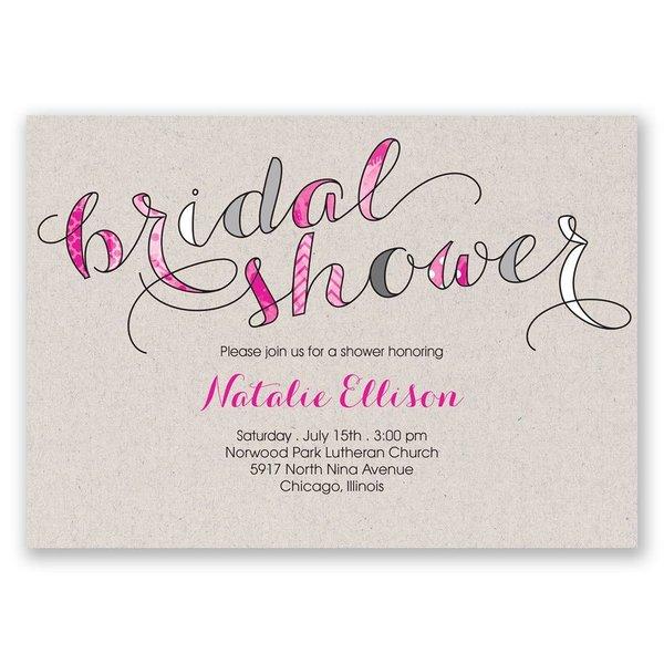 Eclectic Elegance Bridal Shower Invitation