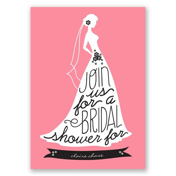 Chic Typography Bridal Shower Invitation