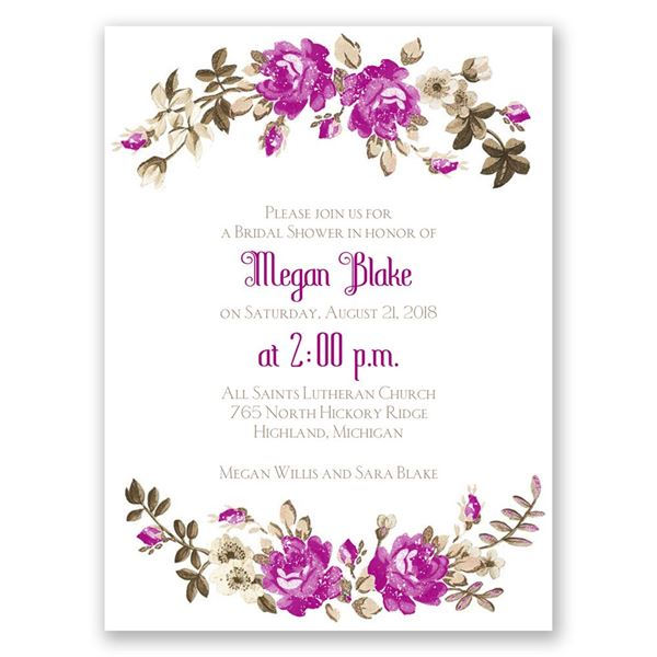 Floral Beauty Petite Bridal Shower Invitation