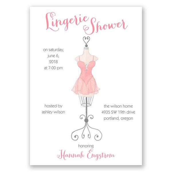 Lingerie Display Bridal Shower Invitation