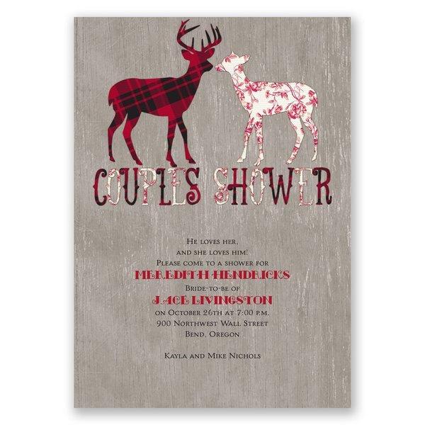 Buck and Doe Wedding Shower Invitation
