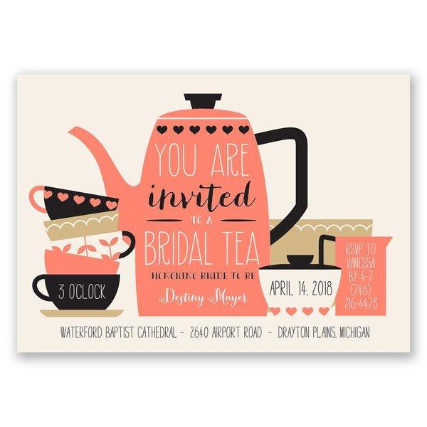Bridal Tea Bridal Shower Invitation