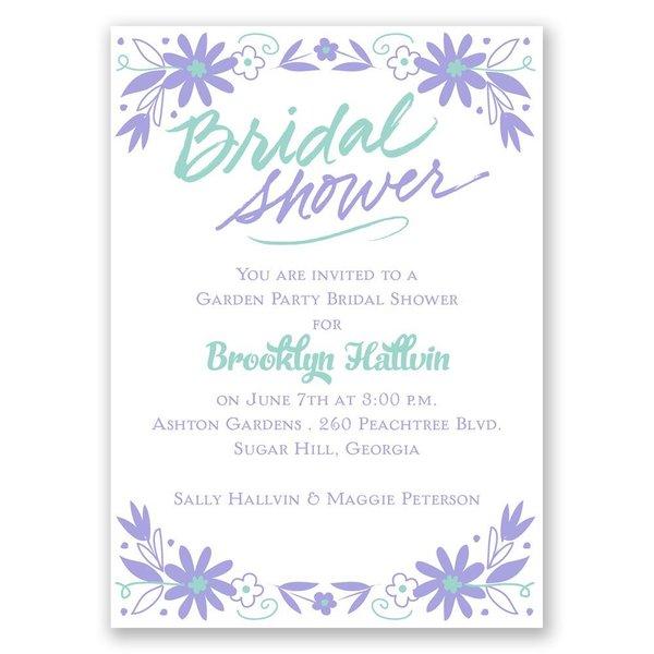 Floral Splash Mini Bridal Shower Invitation