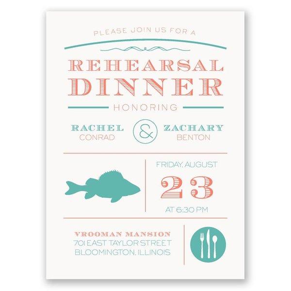 "Chef""s Choice Fish Petite Rehearsal Dinner Invitation"